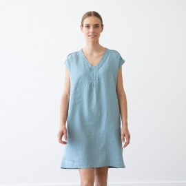 Linen Dress Marine Blue Emily
