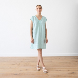 Linen Dress Sea Blue Emily