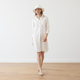 White Linen Shirt Dress Camilla