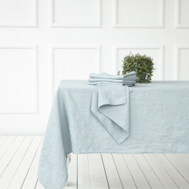 Ice Blue Linen Tablecloth Terra