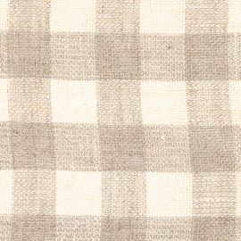 Linen Fabric Natural Squared