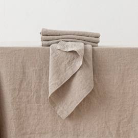 Stone Washed Linen Napkin Natural