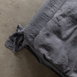 Grey Stone Washed Bed Linen Flat Sheet