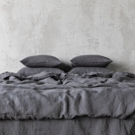 Grey Stone Washed Bed Linen Duvet