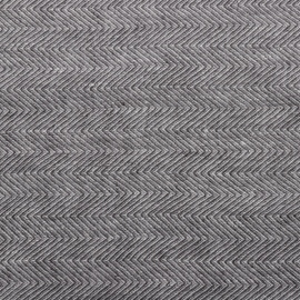 Grey Linen Fabric Stone Washed Herringbone