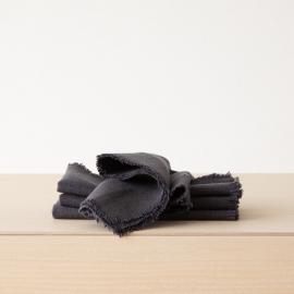 Linen Napkin Grey Rustic