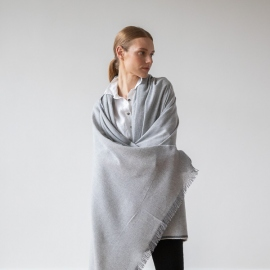 Silver Wool Shawl Salvatore