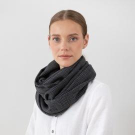 100% Super Fine Merino Wool Scarf Luciano Grey