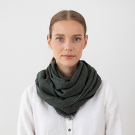 100% Super Fine Merino Wool Scarf Luciano Green