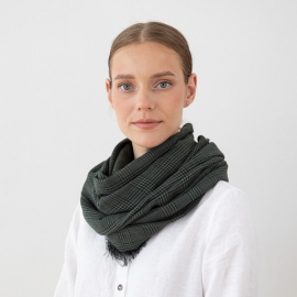 Pure Merino Wool Scarf Luciano Grey