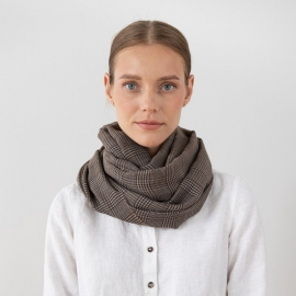 100% Super Fine Merino Wool Scarf Luciano Brown