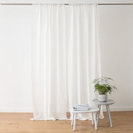 Linen Curtain Panel Off White Garza