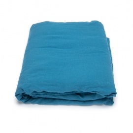Sea Blue Washed Bed Linen Stone Washed  Flat Sheet