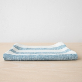 Linen Bath Towel Marine Blue Philippe