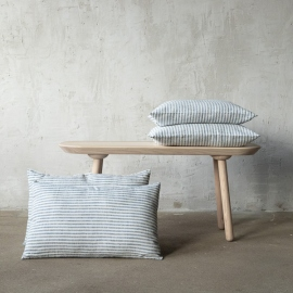 Linen Cushion Cover Indigo Brittany
