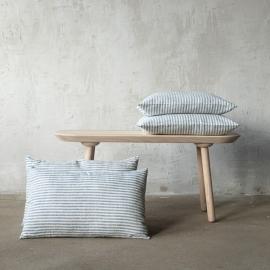 Linen Cushion Cover Indigo Brittany