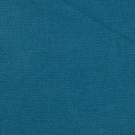 Sea Blue Linen Waffle Fabric Sample