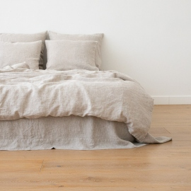 Natural Washed Bed Linen Duvet Crushed