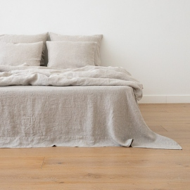 Natural Washed Bed Linen Pillow Case Crushed
