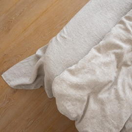 Natural Washed Bed Linen Flat Sheet Crushed