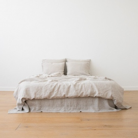 Natural Washed Bed Linen Bed Set Crushed