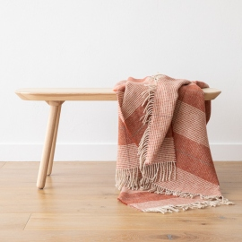 Wool Throw Terra Cotta  Luigi