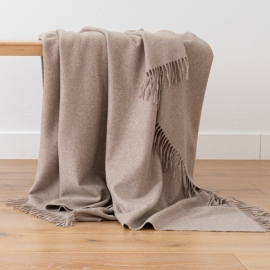 100% Cashmere Throw Everest Latte