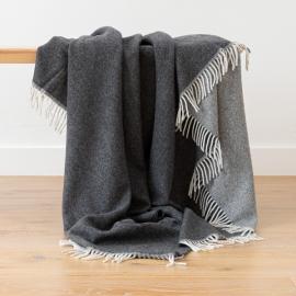 Cashmere Wool Throw Anthrazite Ernesto