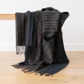 Black Stripe Linen Throw Paolo