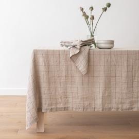 Washed Linen Napkin Natural Brick Window Pane