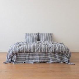 Indigo Washed Bed Linen Duvet Jazz