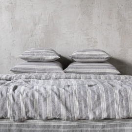 Graphite Washed Bed Linen Duvet Jazz