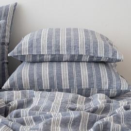 Indigo Washed Bed Linen Pillow Case Jazz