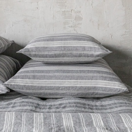 Graphite Washed Bed Linen Pillow Case Jazz