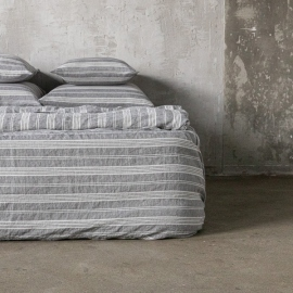 Washed Bed Linen Set Graphite