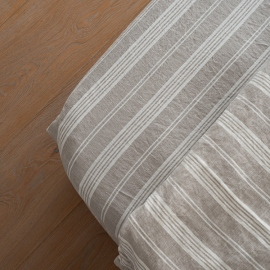 Natural Washed Bed Linen Fitted Sheet Jazz