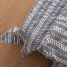 Indigo Washed Bed Linen Flat Sheet Jazz