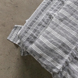 Graphite Washed Bed Linen Flat Sheet Jazz