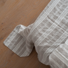Natural Washed Bed Linen Flat Sheet Jazz