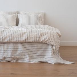 Natural Washed Bed Linen Duvet Stripe