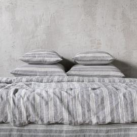 Graphite Washed Bed Linen Bed Set Jazz