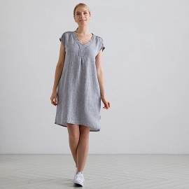 Graphite Melange Linen Dress Emily