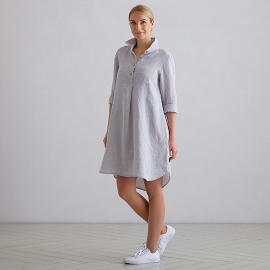 Silver Melange Linen Tunic Camilla