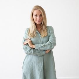 Indigo Linen Dress Camilla