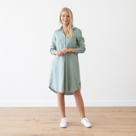 Marine Blue Linen Dress Camilla