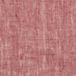 Cherry Linen Fabric Chevron