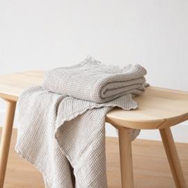 Linen Waffle Big Bath Towel Silver