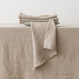Natural Linen Napkin Terra Fringe