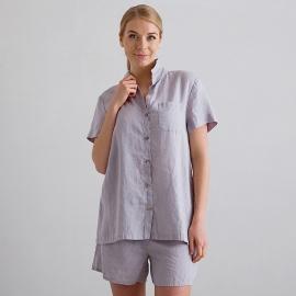 Steel Grey Linen Pyjama Emilia