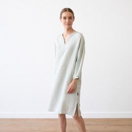 Moss Green Melange Linen Tunic Nida